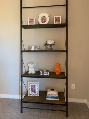 Iron Pipe Wall Mount Ladder Bookcase for Sale in Frisco, TX