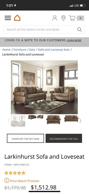 Ashley Furniture Larkinhurst sofa, love seat, and 2 recliners for Sale in Scottsdale, AZ