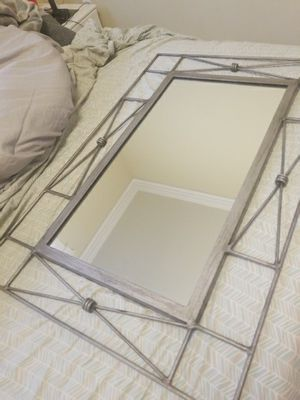 Large Mirror, Brushed Metal for Sale in Tacoma, WA