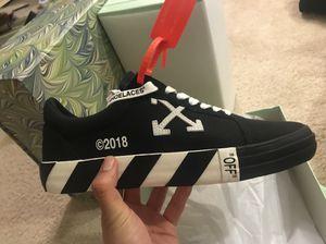 Off white Vulc sneaker not yeezy NMD supreme converse bape air Jordan for Sale in Arlington, VA