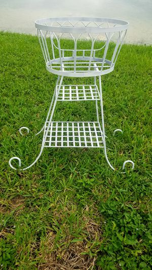 $35.00 - Iron Multipurpose Stand (Its a Planter, Beverage Server, a Baby Toilettry Holder) - Read Description for more info! for Sale in Miami, FL