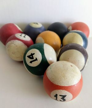 Wooden Pool Ball Decor. 2 inches for Sale in Raleigh, NC