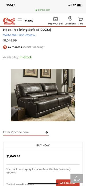 Napa reclining sofa and chair! for Sale in Oklahoma City, OK