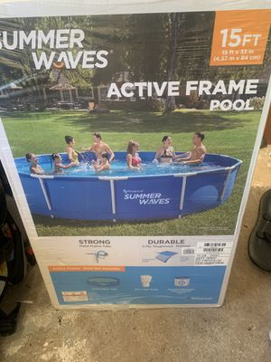 BRAND NEW Summer Waves® 15ft Active Metal Frame Pool (PLEASE READ BELOW BEFORE MAKING AN OFFER) for Sale in Wethersfield, CT