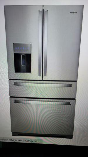 Whirlpool four-door stainless steel refrigerator new for Sale in Bakersfield, CA