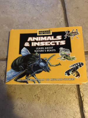 Animals & Insects Sticker Fact Hardback Book for Sale in Lansing, KS