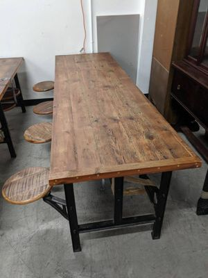 8 seater dining table with swing out stools for Sale in Queens, NY