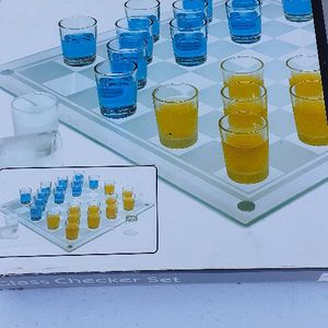 Drinking Glass Checkers Set Brand New for Sale in Lake Wales, FL
