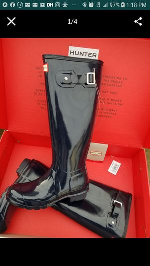 Brand new hunter boots all sizes Retail for $159+tax at Nordstrom , ask for sizes and colors availability. Thanks for Sale in Snohomish, WA