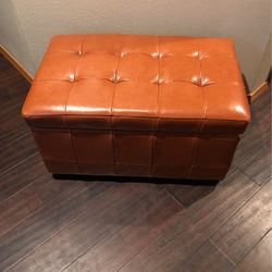 Brown Leatherette Storage Chest for Sale in Boring,  OR