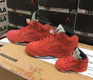 Red suede jordan 5's for Sale in Los Angeles, CA