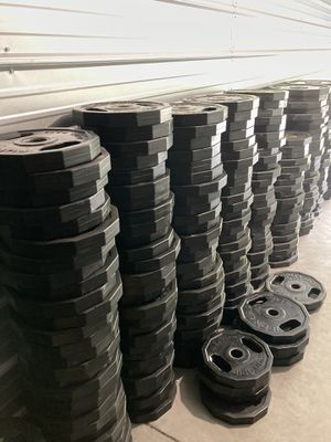 Olympic Weights- IRON GRIP 45, 35, 25 rubber coated plates for Sale in Dublin, CA