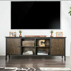 """72"""" TV Stand in Weathered Oak Finish for Sale in Chino, CA"""