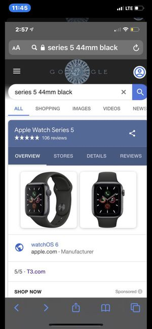 Sprint Apple Watch 5 no box must go 300$ this weekend only for Sale in Redondo Beach, CA