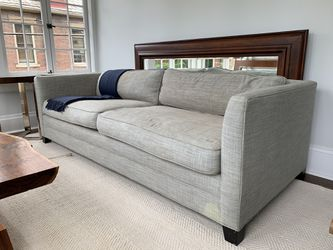 Williams Sonoma Grey Linen Couch for Sale in Columbus,  OH
