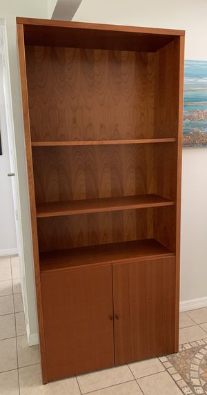 Set of 2 Solid Wood Office Bookshelves / Bookcases for Sale in Bay Lake, FL