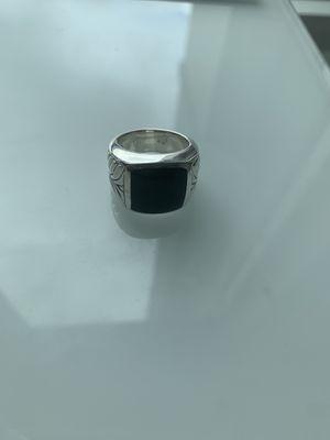 David yurman black onyx chevron signet ring for Sale in West McLean, VA