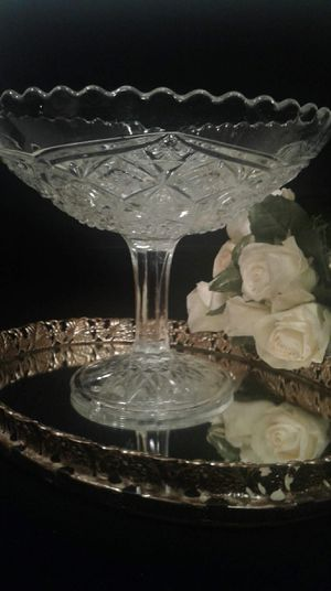 Large Pedestal Glass Dish for Sale in Greensboro, NC