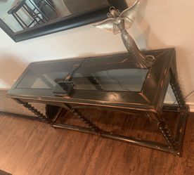 Rustic Glass Top Sofa Table for Sale in Ballinger,  TX