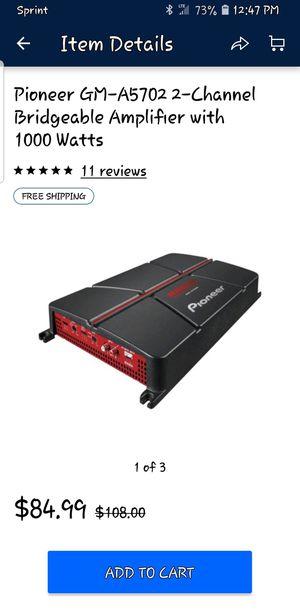 Pioneer Amplifier 1000watt for Sale in Corpus Christi, TX