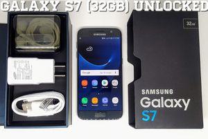 Galaxy S7 (32GB) GSM-UNLOCKED w/ Box + Accessories for Sale in Arlington, VA