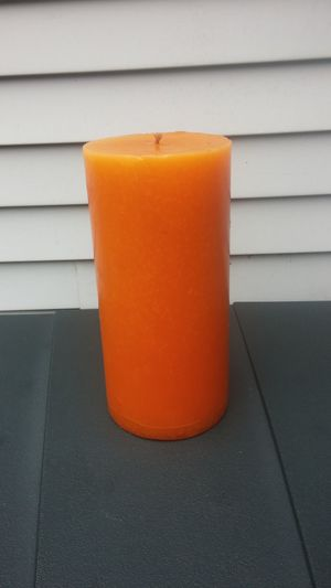 Harvest Orange Solid Round Pillar Candle/Huge/Heavyweight for Sale in Gaithersburg, MD