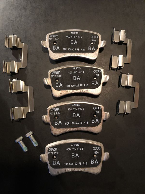 Audi front and rear brake pads