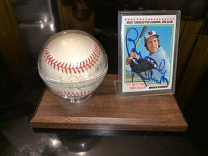 Brooks Robinson autographed BaseBall HOF 83 & Card 1978 Topps Orioles MLB for Sale in Towson, MD