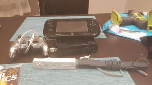 Wii U console with accessories and super smash bros game for Sale in Chicago, IL