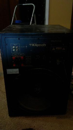 """Klipsch powered sub. 12""""one side and 10"""" on the other. for Sale in GILLEM ENCLAVE, GA"""