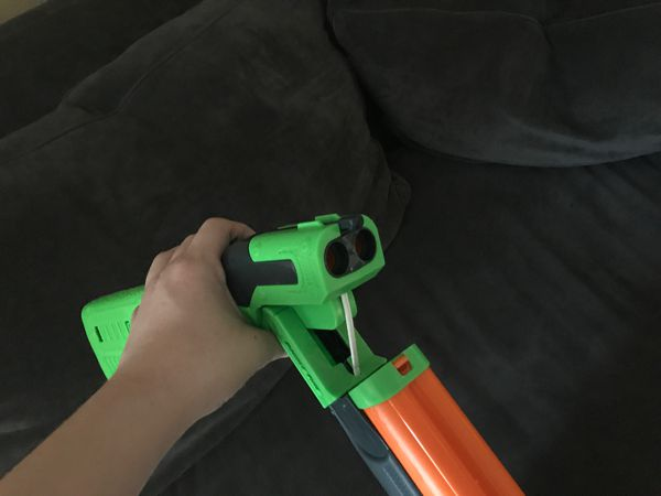 Double barreled nerf gun