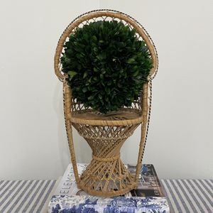 Vintage Mini Rattan Bamboo Peacock Chair for Sale in St. Petersburg, FL