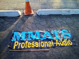 Old school mmats professional pro car audio banner garage art man cave for Sale in KS, US