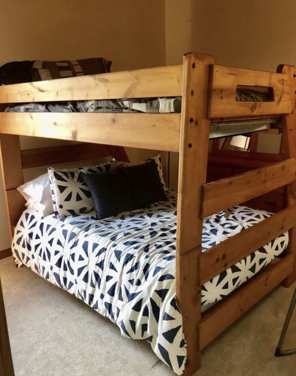 Full Size Bed with Twin Bunk for Sale