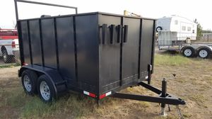 New 77x10x4 dump trailer landscape trailer for Sale in Glendale, AZ