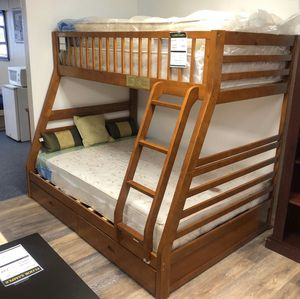 Twin/Full bunk bed with drawers New! 👍 for Sale in Modesto, CA