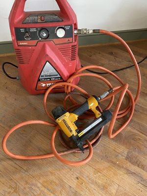 air compressor and finish nail gun for Sale in Upper Darby, PA