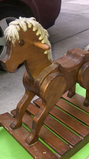 Kids Wooden Rocking Horse Chair Ride Toy for Sale in Philadelphia, PA