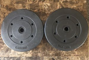 Two 25 lbs Weight Plates for Sale in Kensington, MD
