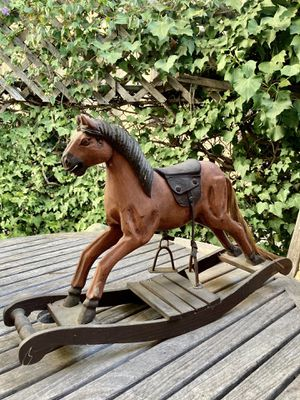 Vintage Wooden Carved Rocking Horse for Sale in Los Angeles, CA