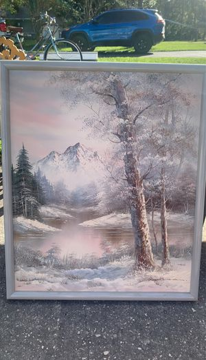 snowy mountain painting for Sale in New Port Richey, FL