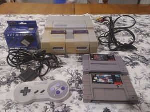 Super Nintendo W/ All Cables&2Games for Sale in Patriot, OH