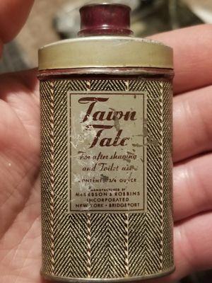 Antique bottle of talc powder original contents for Sale in Las Vegas, NV