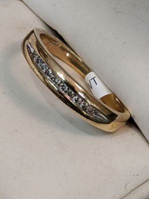 Solid gold diamond band 7 3/4 for Sale in Leesburg, VA