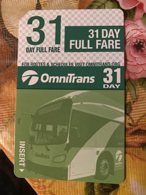 31 Day Buss pass for Sale in Fontana, CA