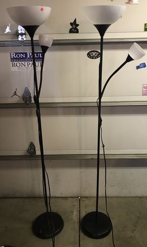 6' Tall Floor Lamps. $20.00 each. for Sale in Chicago, IL
