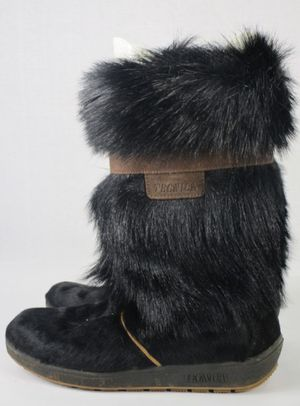 Tecnica Scandia Womens Boots Brown Vegan Fur Snow Winter Size 10/10.5 for Sale in West Seneca, NY