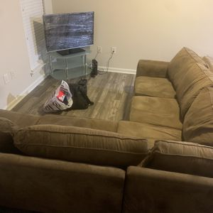 Caramel Colored Sectional Couch for Sale in Atlanta, GA