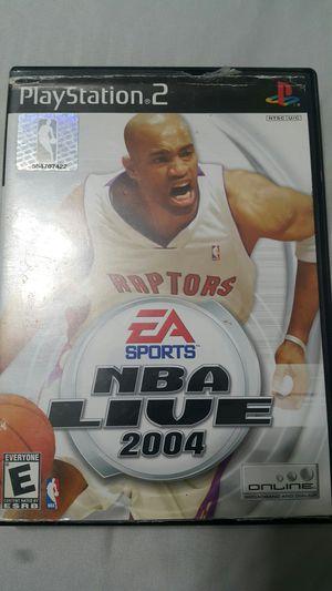 NBA LIVE 2004 FOR PS2 for Sale in Miami Gardens, FL