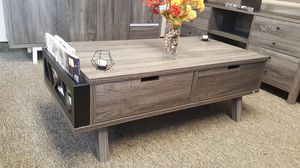 Melody Coffee Table / Center Table, Distressed Grey and Black for Sale in Fountain Valley, CA